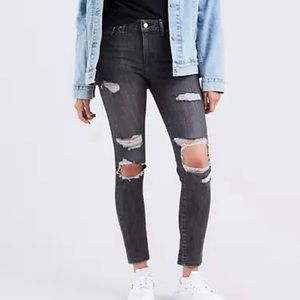 Levi's 721 High Rise Ripped Skinny Womens Jeans 30
